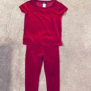 Red velvet Girls set XS 4/5